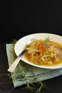 Country braised cabbage soup (vegetarian, vegan option, gluten-free, paleo)