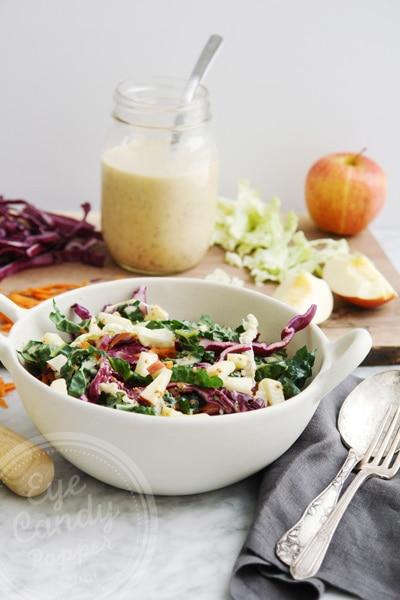 Winter salad: Kaleslaw