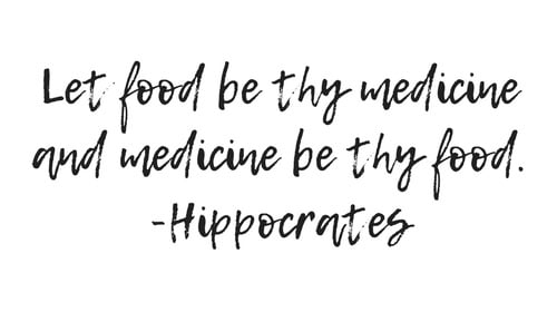 Let food be thy medicine and medicine be thy food quote