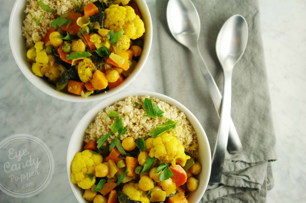 20 min cauliflower, chickpea and coconut milk curry (vegan)