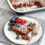 pinterest pin for Healthy Wholegrain Chewy Brownies