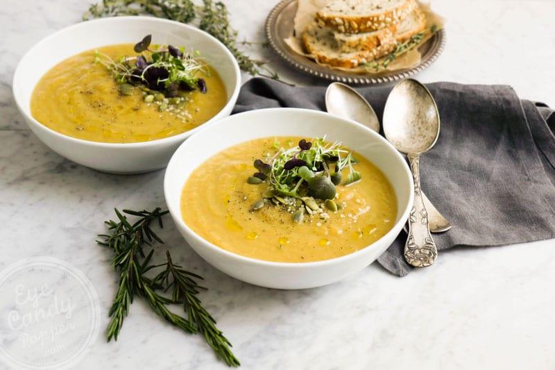 20 min potato and leek soup with a twist