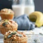 Multigrain Dairy-Free Banana Chocolate Chip Muffins