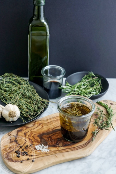 Summer air of Provence in my salad (balsamic herb dressing)