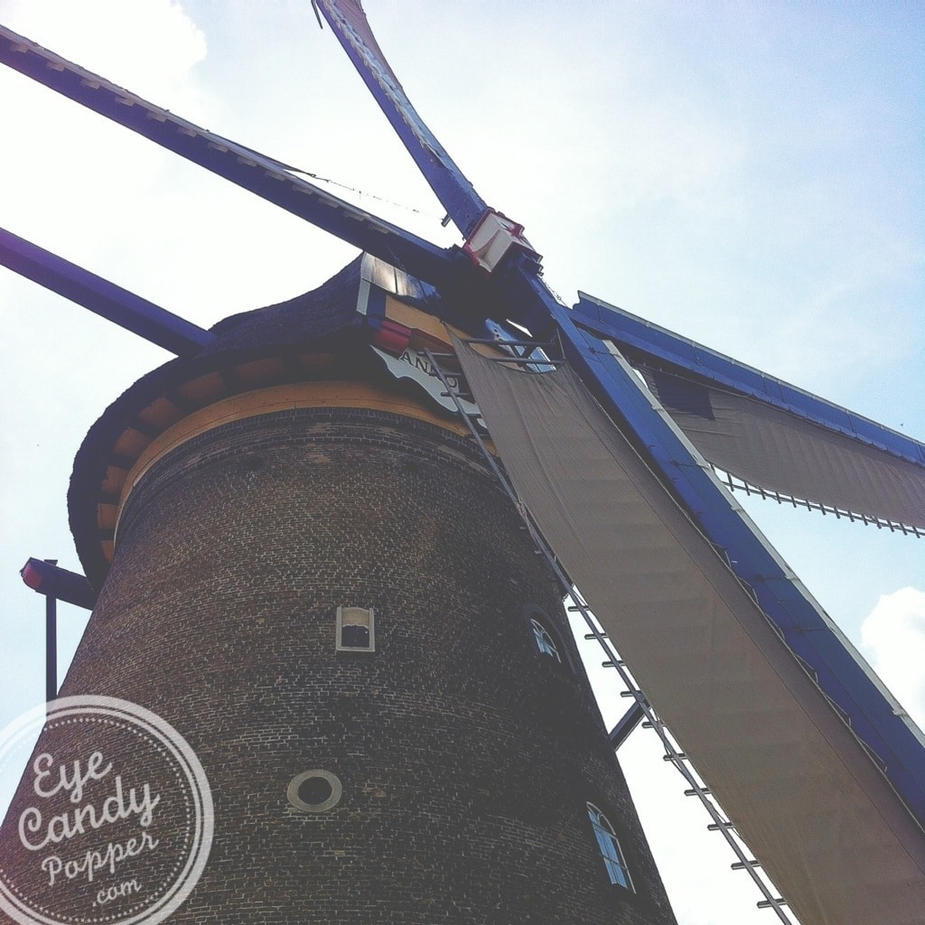close up of a windmill