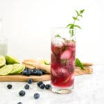 Healthy Blueberry Kombucha Mojito