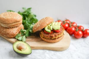 Vegan Sweet Potato Chickpea Burger | Gluten-Free, Soy-Free