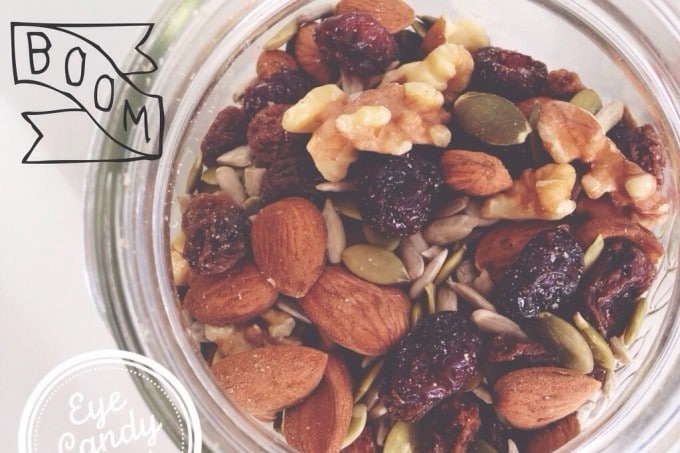 Healthy trail mix snack on-the-go (vegan, raw, paleo)