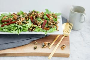 Beet Salad with Maple Candied Seeds | Vegan