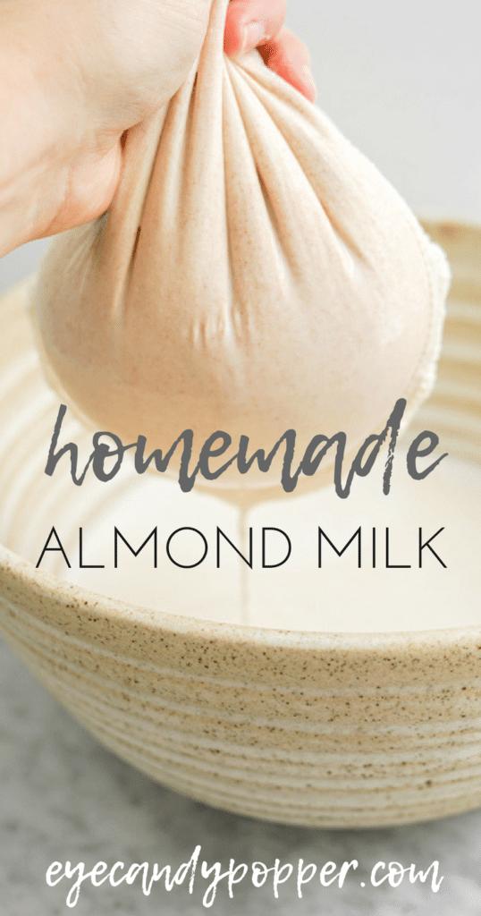 Homemade Almond Milk   No Additives, Vegan