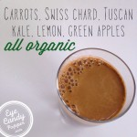 Green juice: Swiss chard, Tuscan kale, green apple, carrots