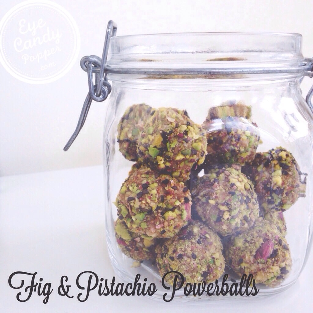 Fig and pistachio power balls   vegan, raw, gluten-free