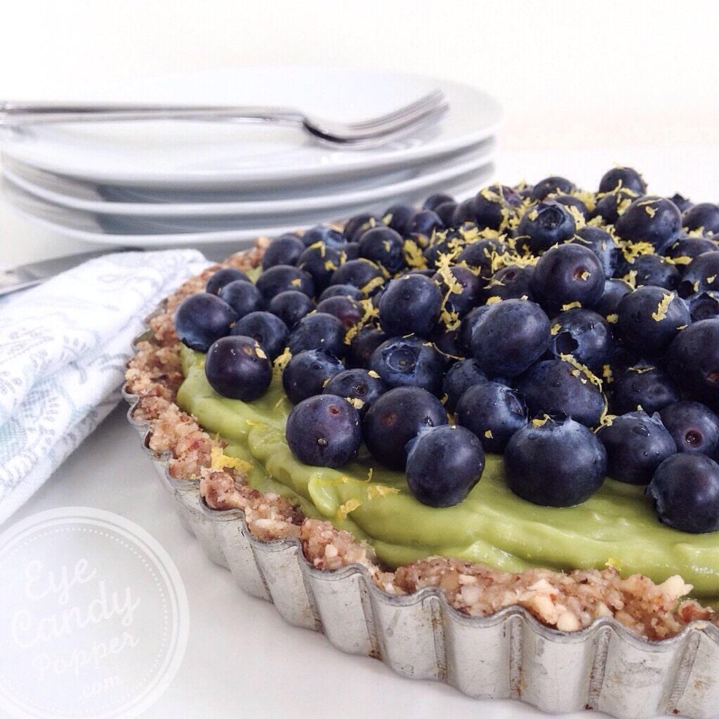 healthy raw lemon pie / tarte crue au citron - vegetalien sans sucre