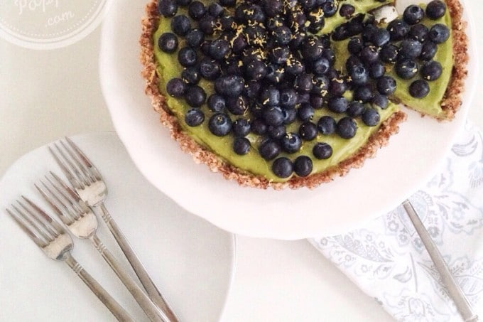 healthy raw lemon pie - tarte crue au citron