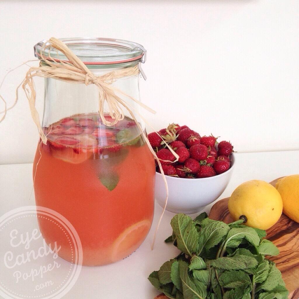Perfect Summer Drink: Strawberry Mint Lemonade | Vegan, Refined Sugar-Free
