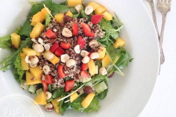Nourishing Bowl: Quinoa, Mango and Nut Salad
