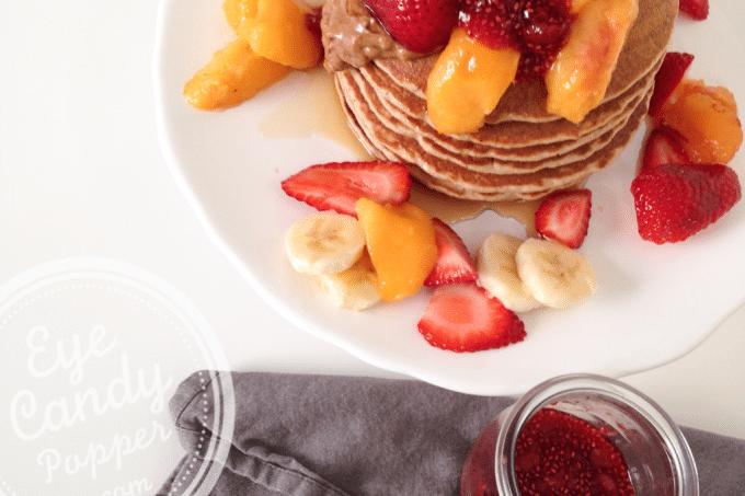 Healthy multigrain pancakes (very low gluten, no wheat, dairy-free)