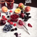 Weekend project: Easy summer jam with stone fruits, berries and chia seeds (vegan, pectin-free, no cane sugar)