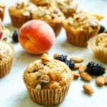 Peach blackberry muffins