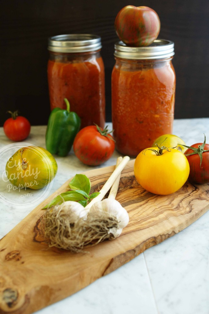 Oven-Roasted Heirloom Spaghetti Sauce & How to Can It
