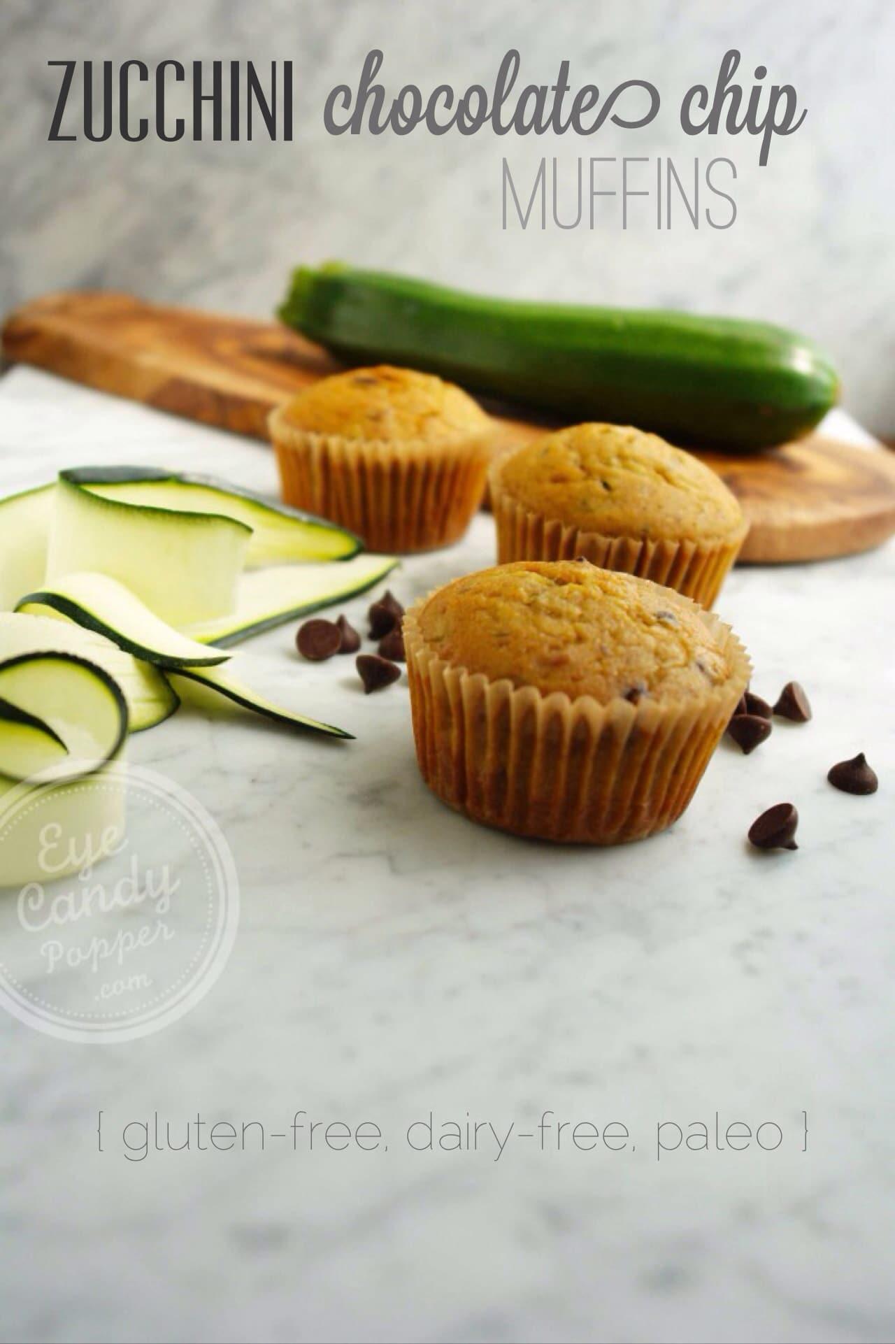 Wheatless Wednesday: Zucchini chocolate chip muffins (gluten-free, dairy-free, paleo-friendly)
