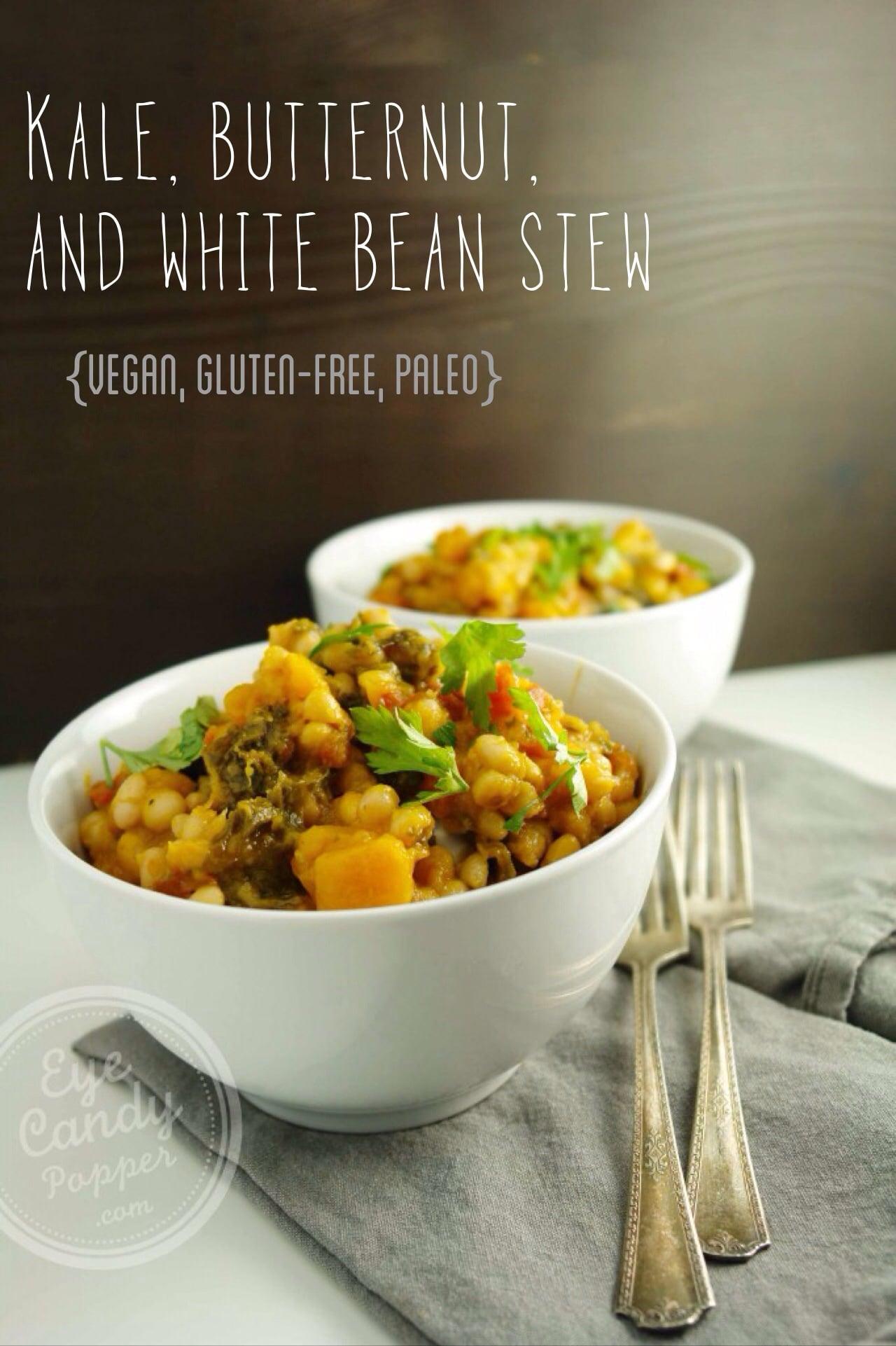 Meatless Monday: Kale, butternut squash and white bean stew (vegan, gluten-free, paleo)