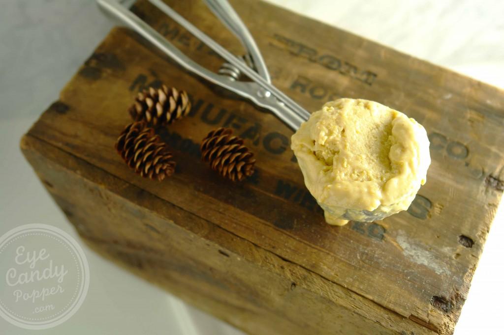 No Churn Pumpkin Peanut Butter Ice Cream (vegan, paleo, gluten-free)