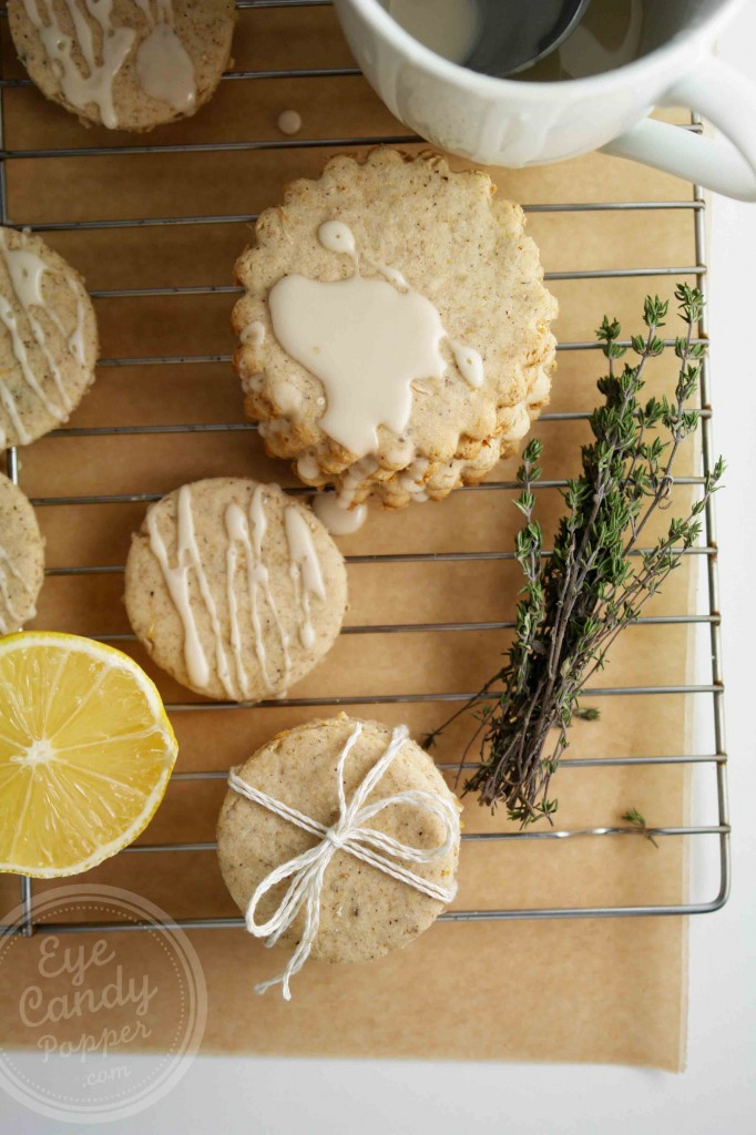 Lemon Thyme Shortbread (vegan, low-gluten or gluten-free, paleo)