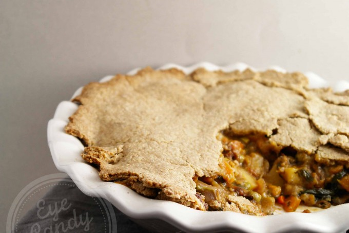 Rustic vegetable pot pie