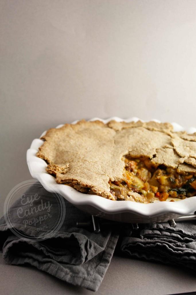 Meatless Monday: Rustic vegetable pot pie (dairy-free, wholegrain, low gluten, vegan option)
