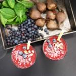 Super Healthy Chocolate Turmeric Beet Smoothie (vegan, paleo, raw, naturally gluten-free)