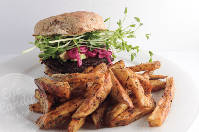 Mushroom and walnut burgers (vegan, gluten-free, paleo)