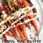 Maple Glazed Heirloom Carrots with Lemon Cashew Cream | Vegan
