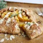 Maple Glazed Peach Galette with Cashew Cream