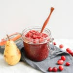 Easy Cranberry Pear Chutney | Vegan, Gluten-Free, Refined Sugar-Free