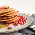 Dairy-free Pumpkin Smoothie Pancakes (vegan option)
