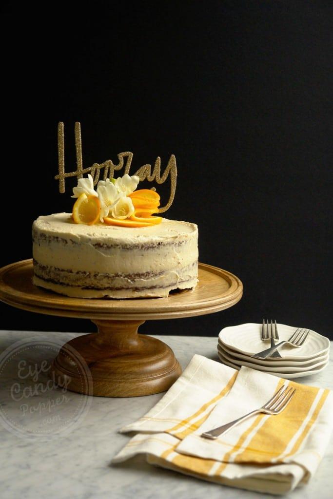 Boozy Orange Chocolate Cake (Gluten-free, dairy-free, vegan option)