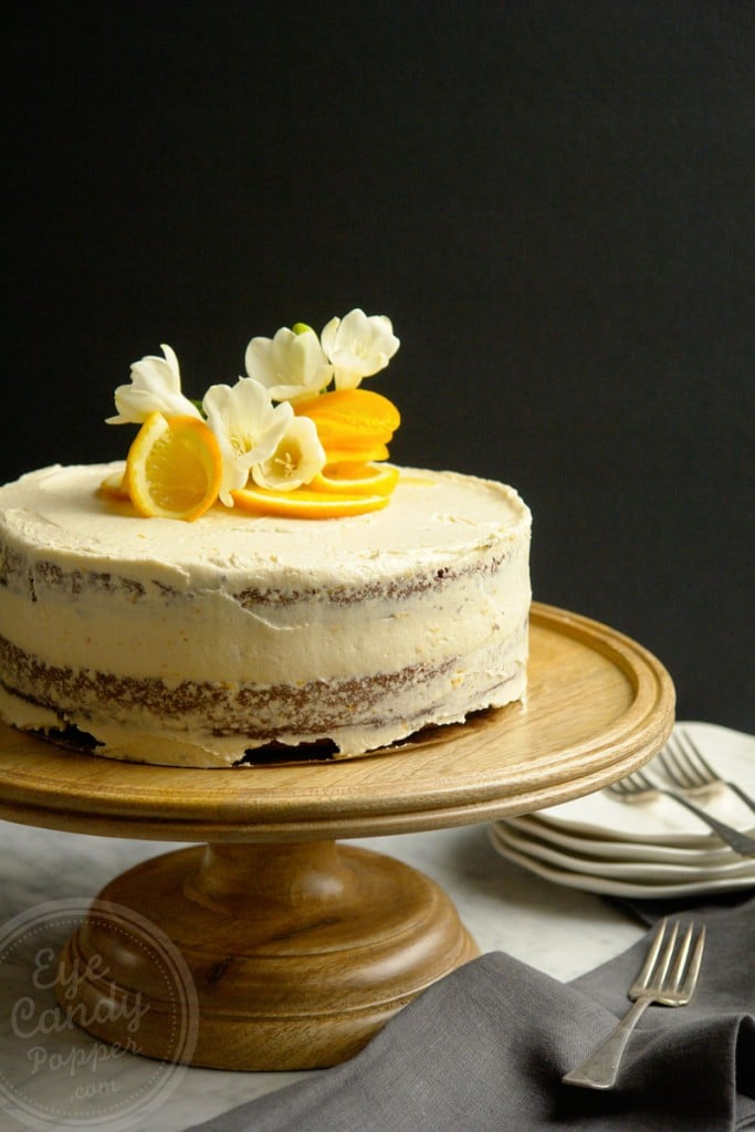 Boozy Orange Chocolate Naked Cake (Gluten-free, dairy-free, vegan option)