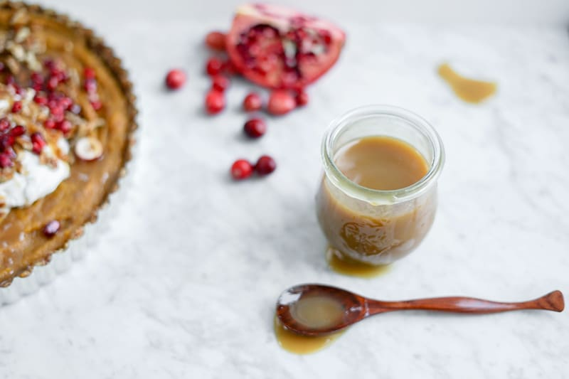 Salted Maple Caramel Sauce | Vegan, Soy-Free, Refined Sugar-Free