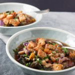 Ribbolita soup + homemade croutons