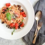 Simple roasted vegetable and pasta dinner