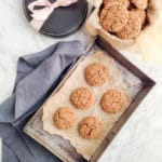 Spelt and rye ginger snap cookies