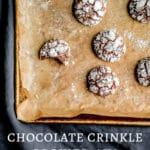 chocolate crinkle cookies, aka brownie cookies