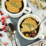 Vegan mushroom cranberry pot pie
