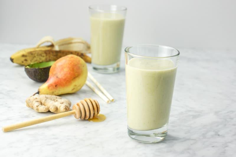 Ginger Pear Kombucha Smoothie