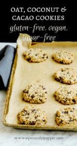 Oat Coconut Cacao Cookies   Vegan, Gluten-Free