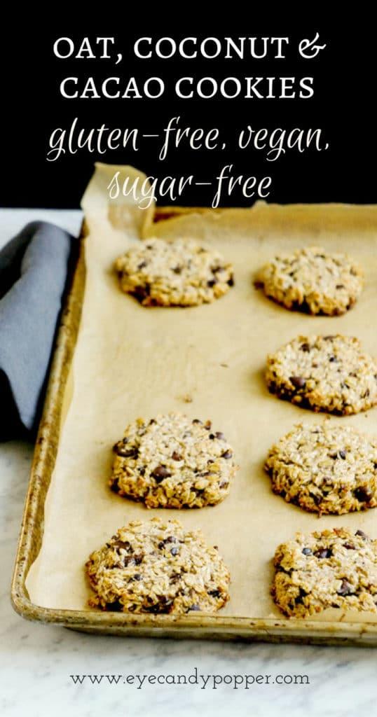 Oat Coconut Cacao Cookies | Vegan, Gluten-Free
