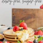 Healthy low gluten mini pancakes | dairy-free