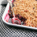 Pin image for Apple Blueberry Crumble for Pinterest
