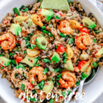 Shrimp and Quinoa Salad With Chipotle Vinaigrette | Pescatarian | Vegan Option""